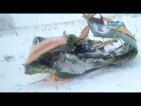 Опубликовано первое видео с места крушение самолета Ан-148 в Подмосковье (видео)