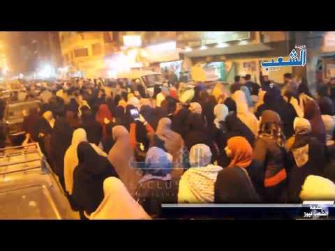 """مسيرة ليلية بالوراق تهتف بقوة """"إسلامية إسلامية"""""""
