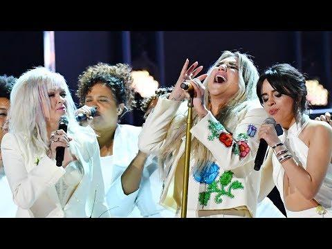 "Kesha Gives MOVING ""Praying"" Performance Ft. Camila & More At 2018 Grammys"