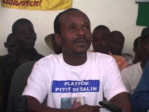 Assad Volcy de la Plateforme Pitit Dessalines autour de la vocation de l'organisation