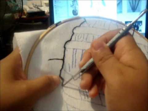 AGUJA MARAVILLOSA - hola esta es la segunda parte del bordado con aguja magica la elaboración espero les guste.