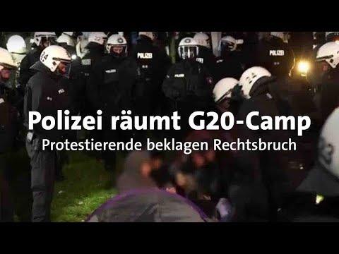G20: Räumung des Camps in Entenwerder