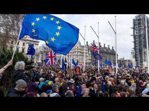 Großbritannien: Londoner Riesen-Demonstration gegen d ...