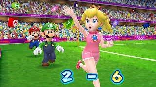 Mario & Sonic at the London 2012 Olympic Games - Mario, Peach, Luigi, Daisy Play Football