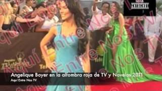 La famosa Angelique Boyer dejó ver sus impresionantes glúteos en la alfombra roja de los premios TV y Novelas 2011 llevados a...