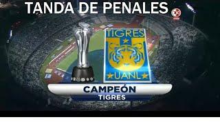 El equipo de Tigres, logró su cuarto título ante el equipo de Pumas, quién apesar de tener la ventaja durante casi todo el partido, lo descontó Tigres UANL durante la tanda de penaltis.FELICIDADES TIGRES CAMPEONES !!!