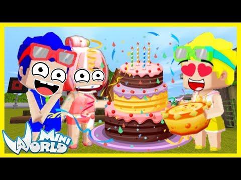 Thử thách Phong Cận xây bánh kem khổng lồ tặng sinh nhật cho mr vịt và cái kết bất ngờ mini world - Thời lượng: 15 phút.