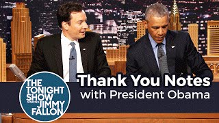 Thank You Notes with President Obama
