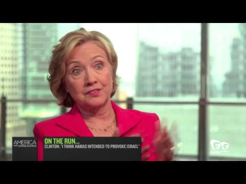 I - Former U.S. Secretary of State Hillary Clinton urged Israel and Hamas to reach a ceasefire agreement to stop the escalating conflict between the two sides. She told Fusion's Jorge Ramos on...