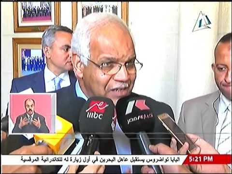 لقاء مع وزير النقل خلال اجتماع مكتب وزراء النقل العرب