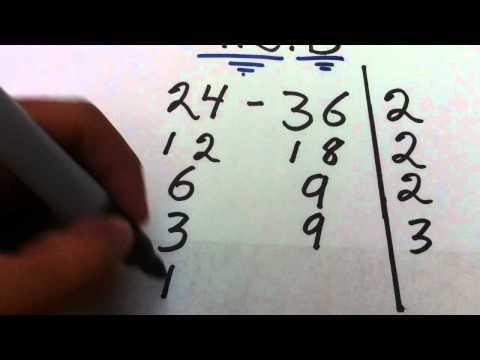 Tutorial de Matemáticas: cómo sacar máximo común divisor – Forma rápida de hallar el MCD