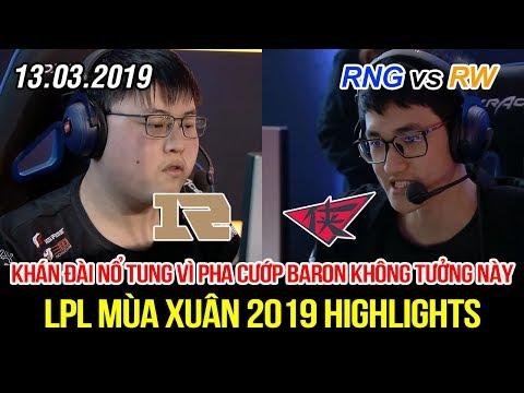 [LPL 2019] RNG vs RW FULL Highlights | Pha cướp Baron khó tin trong truyền thuyết gây đại địa chấn - Thời lượng: 14 phút.