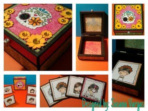 Dia de los muertos altered boxes and cards