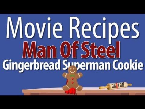 Man Of Steel Gingerbread Superman Cookie - Movie Recipes
