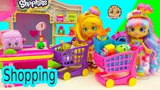 Shoppies Small Mart Shopkins Shopping with Pam Cake & Rainbow Kate For Season 4 + 5 Packs