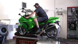 7. 2012 Kawasaki Ninja ZX-14R Dyno Run by Motorcycle Daily