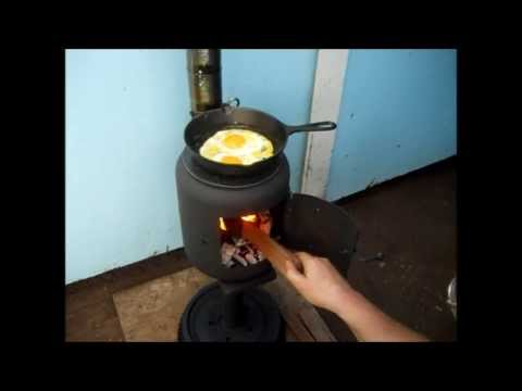 Ammo box is a handmade wood burning stove PROTO1 (#1)