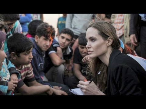 Angelina Jolie brings voice to Syrian refugees
