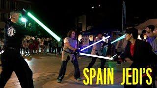 Звездные войны Флешмоб в центре Малаги, Испания