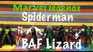 Video Marvel Legends Spider-Man wave BAF Lizard complete set action figure toy review MP3, 3GP, MP4, WEBM, AVI, FLV Juli 2018
