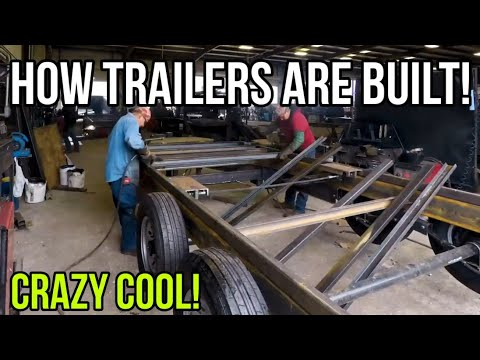 How Trailers are Built! ASMR for men! Factory tour at Texas Pride Trailers!