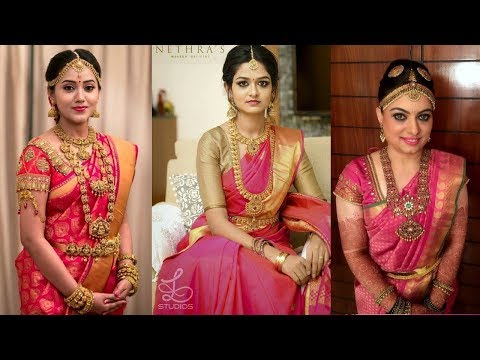 Video Pink South Indian Kanchipuram Silk Wedding Saree Designs 2018 download in MP3, 3GP, MP4, WEBM, AVI, FLV January 2017
