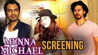 Check out the screening of Munna Michael starring Tiger Shroff, Nawazuddin Siddiqui.Report By: Abhishek HalderEdited By: Advait Pansare.Subscribe now and watch for more of Bollywood Entertainment Videos at http://www.youtube.com/subscription_center?add_user=bollywoodnowRegular Facebook Updates https://www.facebook.com/bollywoodnow.  Twitter Updates https://twitter.com/bollywoodnow  Follow us on Pinterest: https://pinterest.com/bollywoodnow  Follow us on Google+ : https://plus.google.com/+bollywoodnow