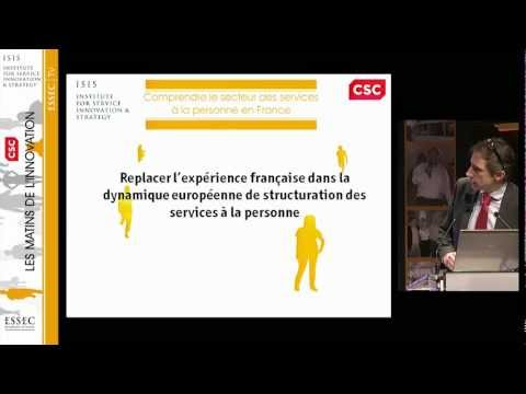 Dienstleistungen zur Person: Lage und Perspektiven - ISIS, Dezember 2011, Xavier Pavie Intro