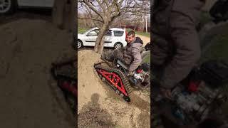 Гусеница Крутец - въезд на песчаную горку
