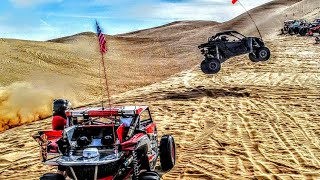10. Maverick X3 gets HUGE Air and mobs Giant Whoops Camp RZR 2018