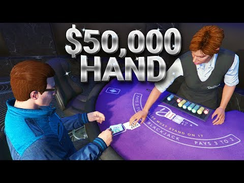 $50,000 BLACKJACK BET! (GTA Online Casino Gameplay)