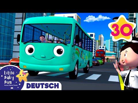 Die Räder vom Bus - Teil 10 Zusammenstellung | Little Baby Bum Deutsch | Kinderreime Für Kinder