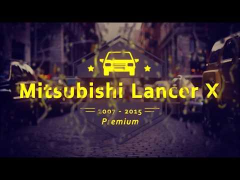 """Чехлы на Mitsubishi Lancer X, серии """"Premium"""" - серая строчка"""