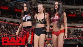 Video Ronda Rousey & The Bella Twins fight off The Riott Squad: Raw, Sept. 17, 2018 MP3, 3GP, MP4, WEBM, AVI, FLV Agustus 2019