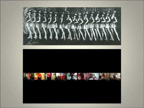 Die 21st Century Tiller Girls of YouTube in Natalie Bookchin  's Ornament der Masse