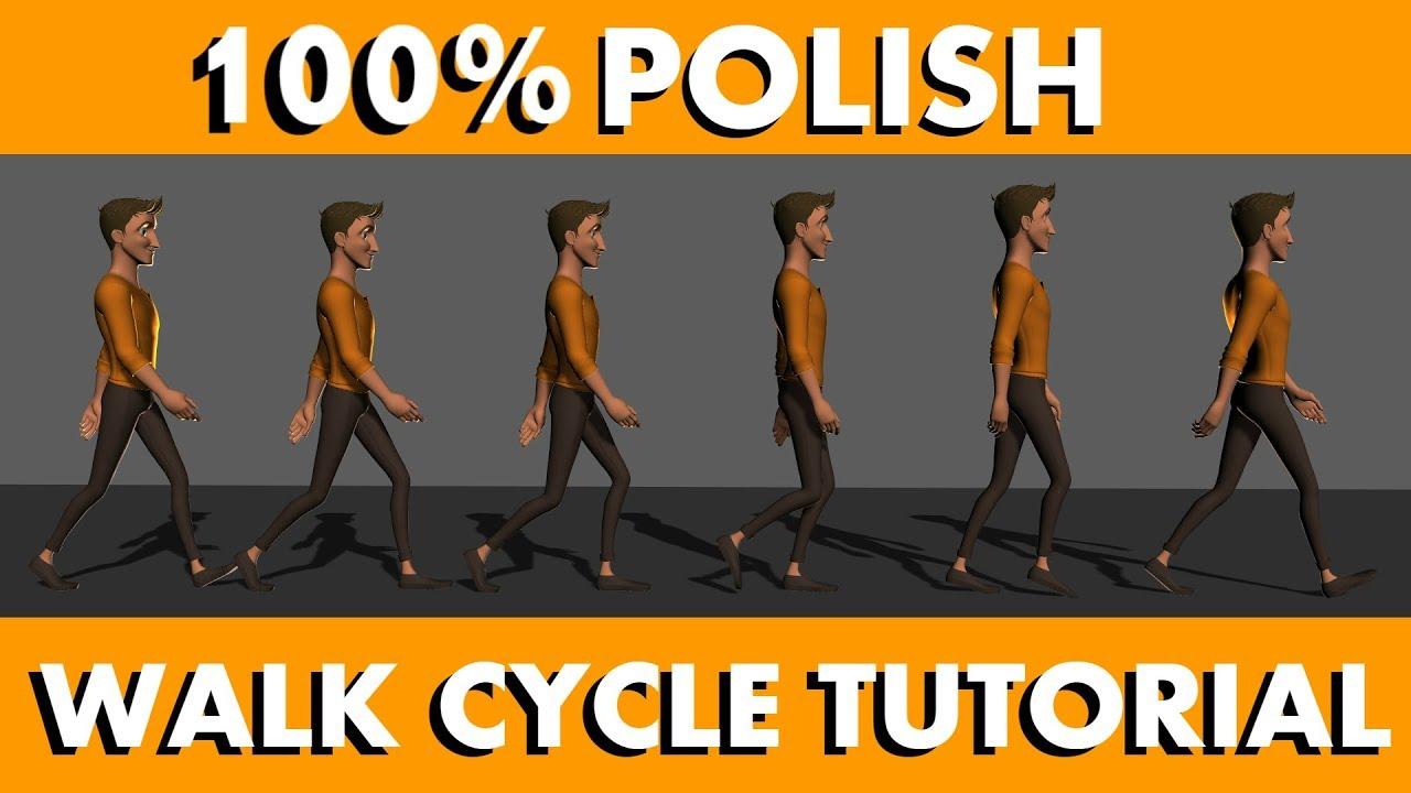 animate 3d walk cycle tutorial