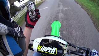 3. Top speed test kx100!! and Helmet set up (speedometer)