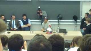 Daniel Ricciardo Al Politecnico Di Milano Red Bull On Stage (ENGLISH INTERVIEW)