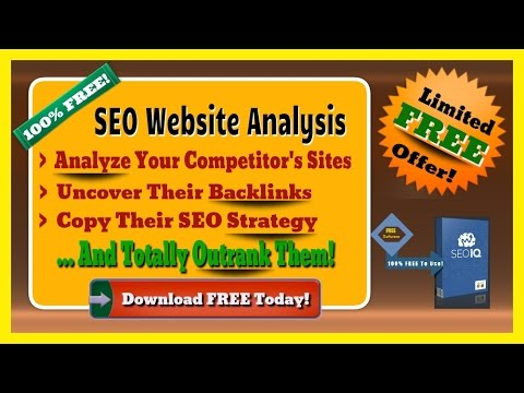 SEO Website Analysis Software - Free SEO Software To Analysis Any Website