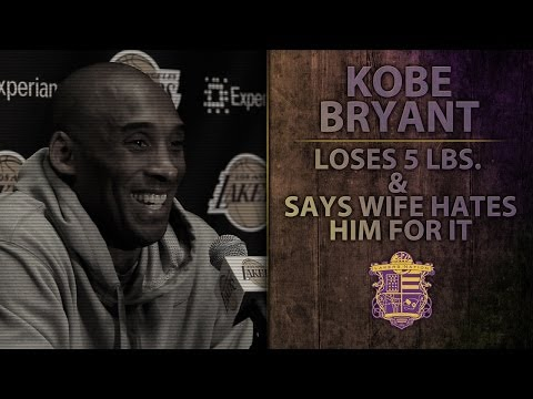 Video: Lakers Star Kobe Bryant Drops Five Pounds In One Game, Jokes That Wife Hates Him