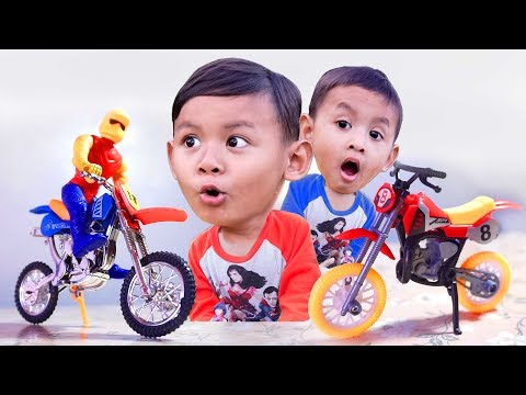 Bisa Dibongkar Pasang, Unboxing Mainan Motor Trail Mini | Motor cross Mini Anak Kecil