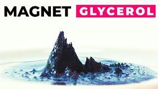эксперименты Магнит, глицерин и железные опилки