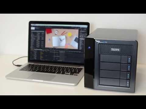 Promise Pegasus 2 Thunderbolt 2 RAID storage demo