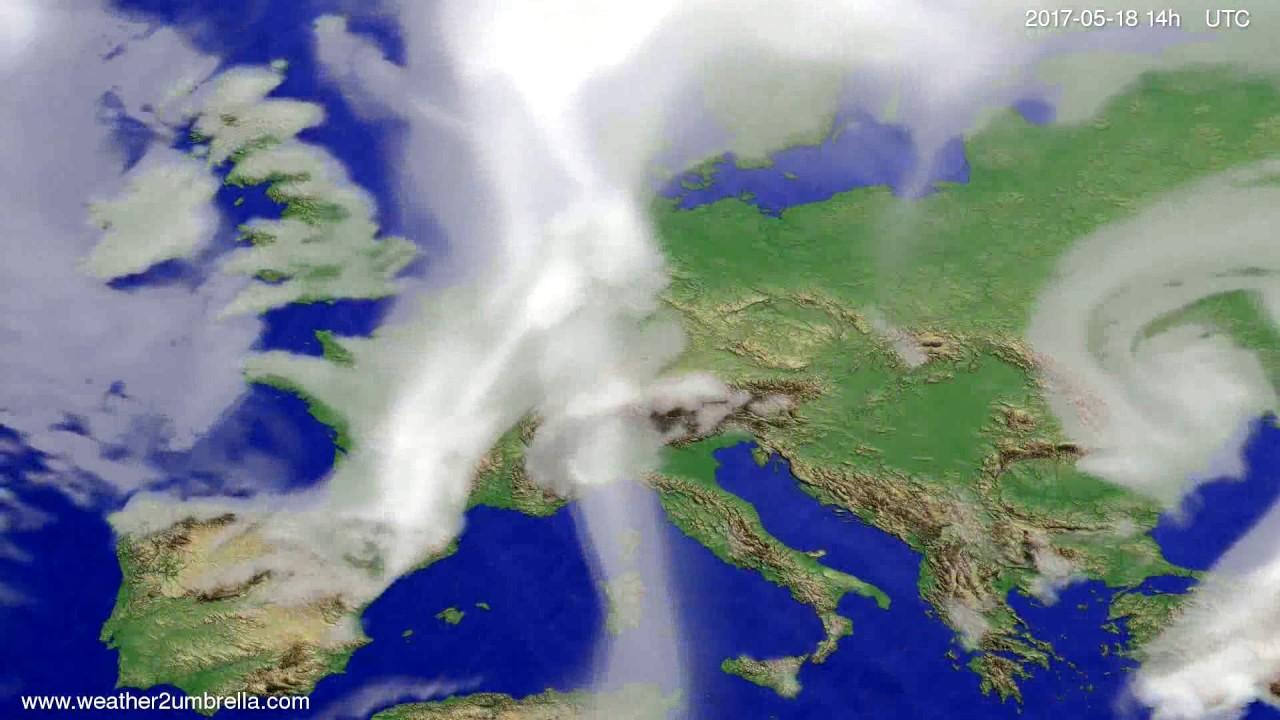 Cloud forecast Europe 2017-05-14