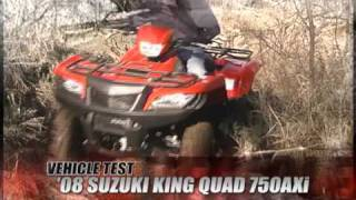 8. ATV Television Test - 2008 Suzuki King Quad 750