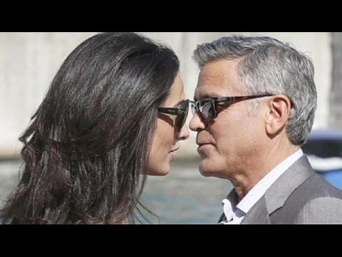 Traumhochzeit in Venedig: George Clooney und Amal Alamu ...