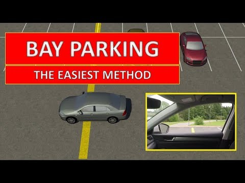 Learn how to PARK IN A BAY. The easiest driving lesson by Parking Tutorial