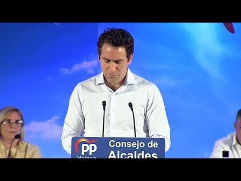 Teodoro García Egea clausura el Consejo de Alcaldes del PP Málaga.
