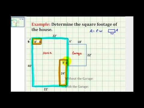 Ex:  Find the Square Footage of a House