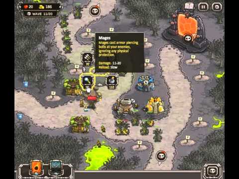 Kingdom Rush - Rotten Forest - Campaign - No Heroes - No Bonus - Walkthrough
